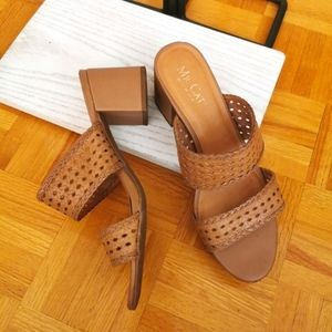 Sandals US 9 Brown leather woven effect sandals